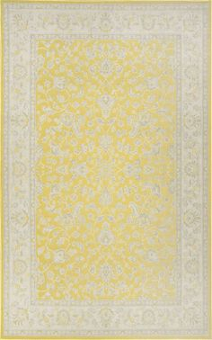 Bring in a vibrant yellow touch to your area with this Floral Persian Rug. Machine made out of 100% polypropylene, this indoor/outdoor rug adds a wonderful finish to your décor.