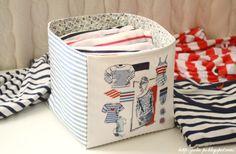 вышивка, вышивка крестом, морская тематика, тельняшка, текстильная корзинка с вышивкой, Veronique Enginger, Mode d'hier et d'aujourd'hui au ...