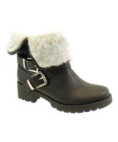 Another great find on #zulily! Black & White Eris Boot #zulilyfinds