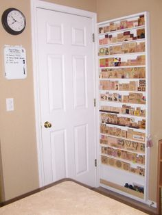 Love this stamp storage created behind the door on what would of otherwise been wasted space!