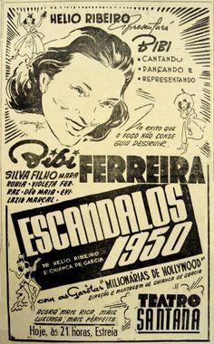 Bibi Ferreira - no teatro - escandalos de l950.