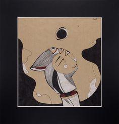 """Sun."" Graphic series ""Night Moods."" by Uliana Pucheglazova. 72,8/70,1 см."