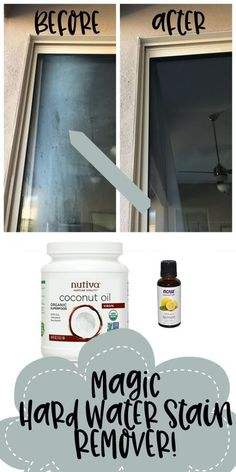 how to remove hard water stains on your windows or shower glass Deep Cleaning Tips, House Cleaning Tips, Cleaning Solutions, Spring Cleaning, Cleaning Hacks, Cleaning Products, Window Cleaning Tips, Car Cleaning, Diy Hacks