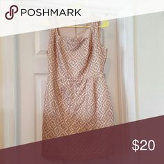 NWOT Gorgeous sheath dress Shades of gold, taupe, and peach- great for career or special occasion, full zipper down back forever 21 love Dresses Midi