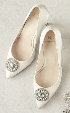 Beautiful bridal court shoes from No.1 Jenny Packham