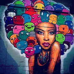 Street Art (Best of. Murals Street Art, Street Art Graffiti, Types Of Art, Public Art, Oeuvre D'art, Urban Art, Creative Art, Fantasy Art, Cool Art