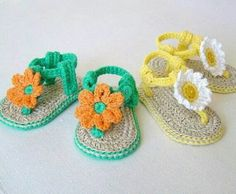 Little girl crocheted sandals