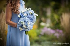 light blue wedding. Bridesmaids Dresses. Bouquet. Waterloo Park.