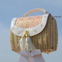 Bolsa de palha Crossbody sacos mulheres mensageiro para senhoras Unusual A1172