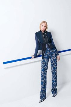 Follow Rent a Stylist https://www.pinterest.com/rentastylist/ Floral pants and belted vest in Rebecca Taylor F/W 2015 collection