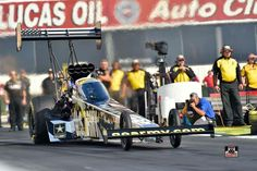 Tony Schumacher and Team At the 2015 NHRA Finals at Pomona in the U.S. Army Nitro Dragster
