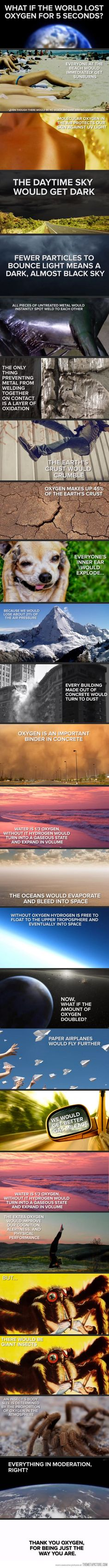 What if the world lost oxygen for 5 seconds? No idea if this is scientifically accurate or not, but lol