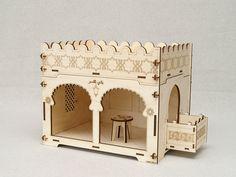 Ein kleiner Palast für orientalische Prinzessin. Lassen Sie Ihre Kinder mit Fantasie dekorieren und ihre Märchen spielen. Sie können einen auf den anderen stellen und einen Turm bauen. Einfach zu...