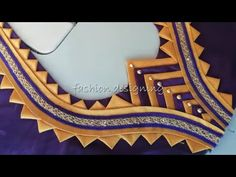 Lets learn how to stitch a very simple back neck design of a blouse. You all can try stitching the back blouse design by watching this video simultaneously. Latest Blouse Neck Designs, New Saree Blouse Designs, Blouse Designs High Neck, Patch Work Blouse Designs, Neck Designs For Suits, Back Neck Designs, Fancy Blouse Designs, Bridal Blouse Designs, Blouse Styles