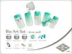 Tiffany's art set Bio Sculpture Nails, Sculpture Art, Tiffany Art, Bio Art, Gem Nails, Nail Jewelry, Silver Bullion, Gel Color, Nail Art Galleries