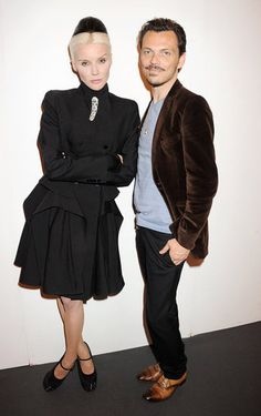 Matthew Williamson and Daphne Guinness at the Graduate Fashion Week Gala in London.