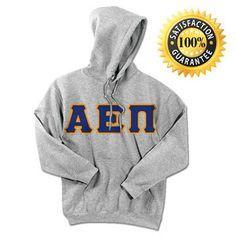 Alpha Epsilon Pi Standards Hooded Sweatshirt - $25.99 | Something Greek | #AlphaEpsilonPi #AEPi #sorority #sororityclothing #greekmerchandise