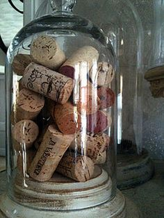 Corks ~ Display corks from those special dinners as a nice reminder!