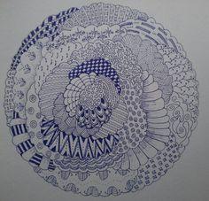 Zendala zentangle en mandala made by  e.lugt 1-2014 nr 1.