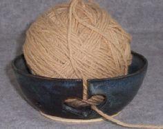 wheel thrown pottery ideas | ... Blue with Hearts Knitting Stoneware Wheel Thrown Ceramics Pottery