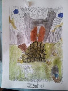 a beautiful Halloween picture from Saturday's Art Club at Faux Arts