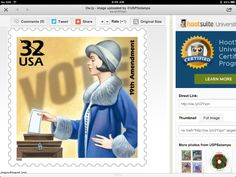 USPS stamp for 19th Amendment; just add other special stamps for correct postage.