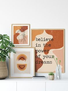 Boho Wall Decor Gallery Wall Set Of 5 Prints Boho Room Decor Burnt Orange Wall Art Boho Living Room Boho Rainbow Print Boho Bedroom Decor  Make a blank space pop with our gallery wall set!  OPTIONS:  SET L: 24″ × 36″ 18″ × 24″ 12″ × 18″  SET M: 20″ × 30″ 16″ × 20″ 11″ × 14″  SET S: 18″ × 24″ 12″ ×