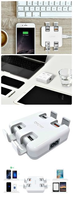 If you have many devices to recharge and do not want a mess of cables crowding your desk, the Chuwi W-100 Power Station could be the perfect solution.