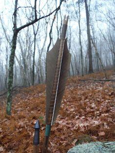 Traditional wood archery arrow, Medieval Style archery arrow, 55-60lb, Hunting, Renaissance, Long Bow