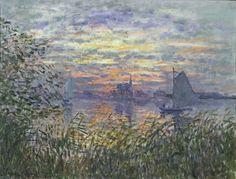 Monet, Claude -  Marine au coucher de soleil - Philadelphia Museum of Art
