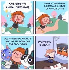 Animal Crossing Fan Art, Animal Crossing Memes, Funny Animals, Cute Animals, Video Games Girls, Gamer Humor, Funny Comics, Nerd, Geek Stuff