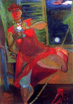 1936 Walking on the Tightrope by Hungarian Margit Anna, born Margit Sichermann, 1913~1991
