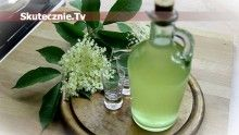 Sok (syrop) oraz likier z kwiatów czarnego bzu
