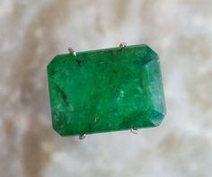 7.15 CT Natural Zambia Estate Green Emerald Diamond Engagement Ring 18k Gold #BilalGems