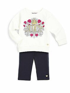 Juicy Couture Infant's Two-Piece Terry Top & Leggings Set