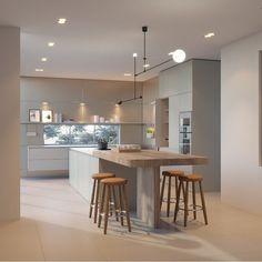 Modern Kitchen Cabinets Ideas to Get More Inspiration Dish Modern Kitchen Cabinets, Ikea Kitchen, Home Decor Kitchen, Best Kitchen Designs, Modern Kitchen Design, Interior Design Kitchen, Bulthaup Kitchen, Kitchen Pictures, Cool Kitchens