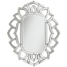 "Lapeza Openwork 30""x37"" Sunburst Wall Mirror"