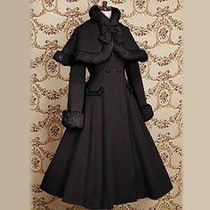 Velvet manga larga Lolita Princess Classic Coat con Arco – USD $ 134.99