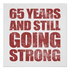 65ste Verjaardag die nog Sterk gaan