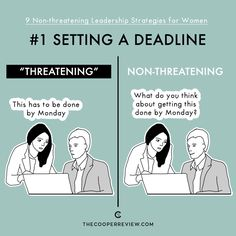 Female leaders need to make sure they're not perceived as pushy, aggressive or competent. Here are 9 non-threatening leadership strategies for women.