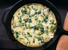 Skillet Spring Frittata with Asparagus and Goat Cheese via Serious Eats