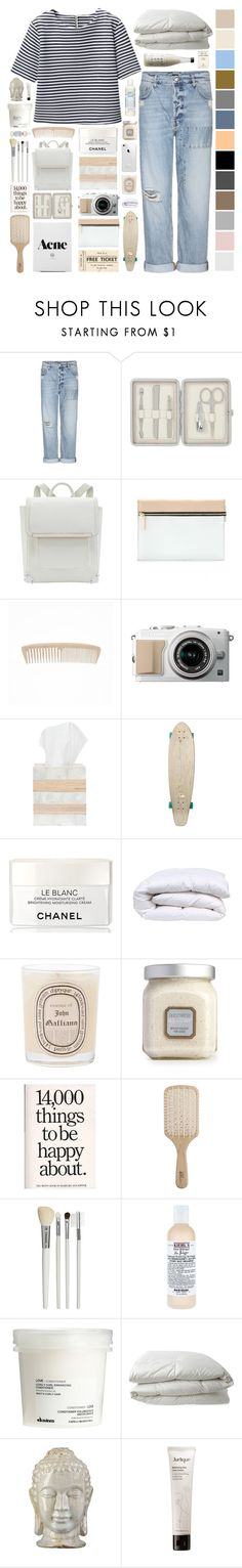 """""""Untitled #391"""" by nicoladaly ❤ liked on Polyvore featuring McQ by Alexander McQueen, John Lewis, Victoria Beckham, Pigeon & Poodle, Quiksilver, Chanel, Diptyque, Laura Mercier, Philip Kingsley and Cath Kidston"""