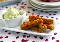"Herbed Chickpea Oven ""Fries"" with Avocado-Garlic Aioli (Vegan & Gluten Free) Candida Recipes, Raw Food Recipes, Fall Recipes, Vegetarian Recipes, Cooking Recipes, Chickpea Recipes, Savoury Recipes, Keto Recipes, Snack Recipes"