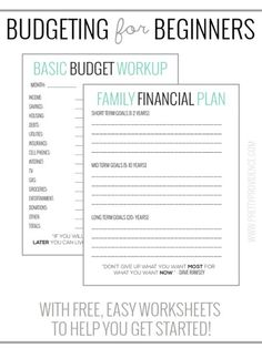 Printables Budgeting Worksheets For Adults budget worksheets and tips on pinterest basic budgeting with free to help you get going easy way started