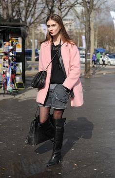 【PARIS】Outer: ZARA / Bottoms: Acne / Bag: CHANEL / Shoes: ZARA
