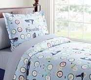 Bicycle Duvet Cover, Twin
