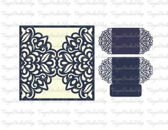 Wedding invitation SVG DXF ai CRD eps Pattern Card