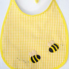 Hey, I found this really awesome Etsy listing at https://www.etsy.com/listing/87675644/baby-bumble-bee-bib-baby-accessories-new