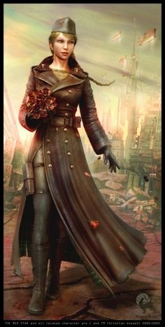 Maybe what Capra's uniform looked like? (Dieselpunk military fashion.)