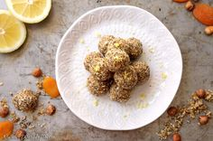 Apricot & Hazelnut Energy-Balls – Narin's World of Taste Energy Balls, Superfood, Healthy Snacks, Camping, Breakfast, Easy, Recipes, Health Snacks, Campsite